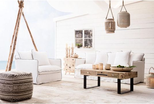 Design Bank Wit.Kare Design Bank Santorini 3 Zits Wit 100 Linnen Kare Design